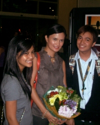 Ms. Daphne Osena-Paez with Ina and Friend