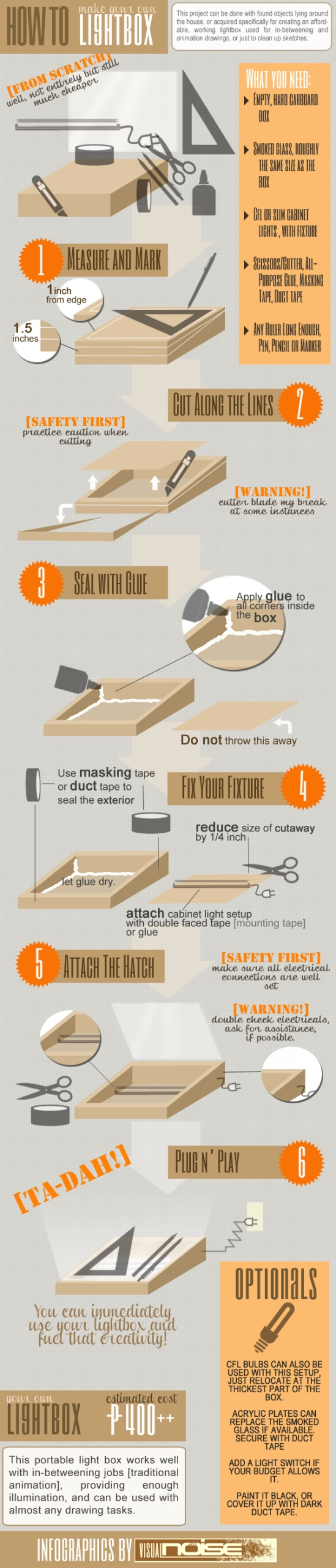 How To: Make Your Own Lightbox [infographic]