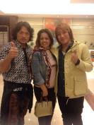 From left Akira, Ms.Weng, Kuroshio