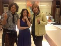 From left Akira, Ms.Keiko, Kuroshio